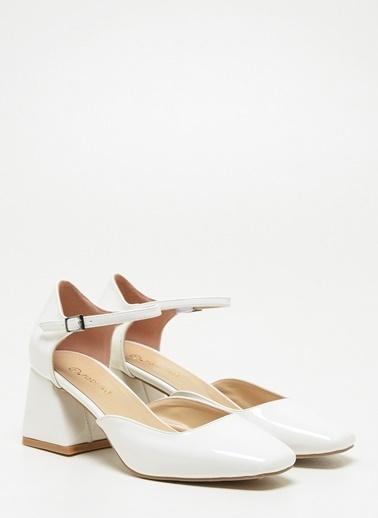 F By Fabrika Kadın Siyah Ayakkabı BELLA Beyaz